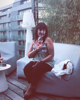 Esther en la Terraza del Yandiola - Foto de Virginia Orive