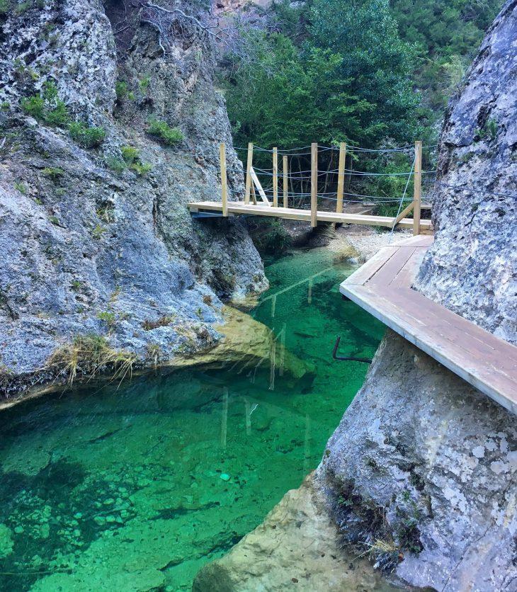 Ruta por las pasarelas del Parrizal de Beceite