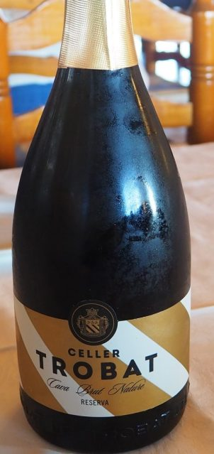 Cava brut nature reserva Celler Trobat