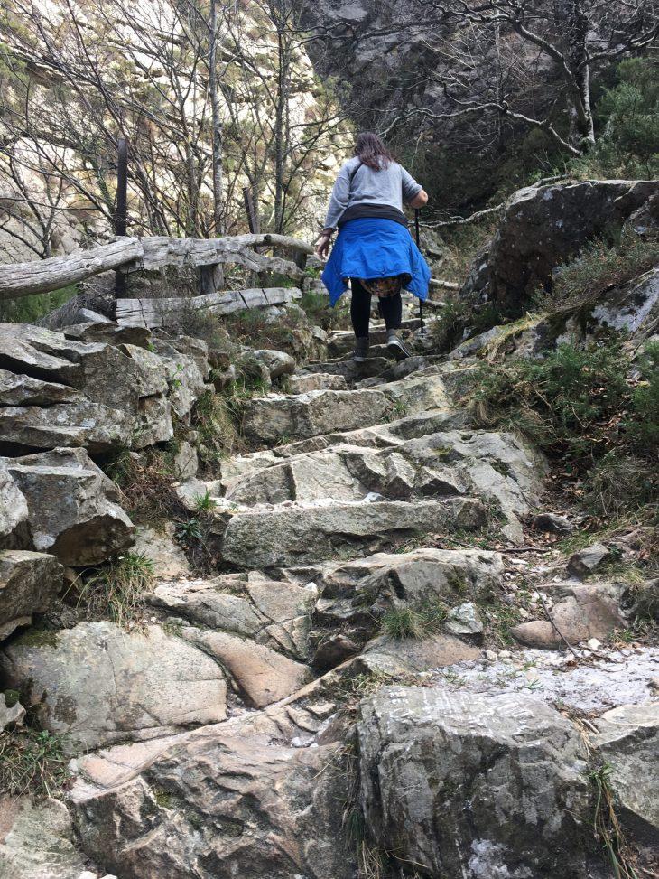 Escaleras del Desfiladero de los Arrudos