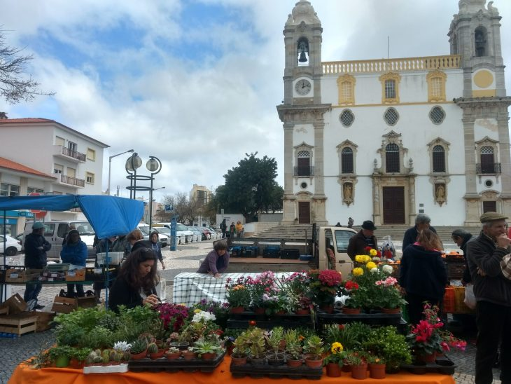 Mercado agrícola de Largo do Carmo en Faro
