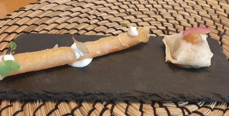 Ravioli de morcilla y de patatas con chistorra