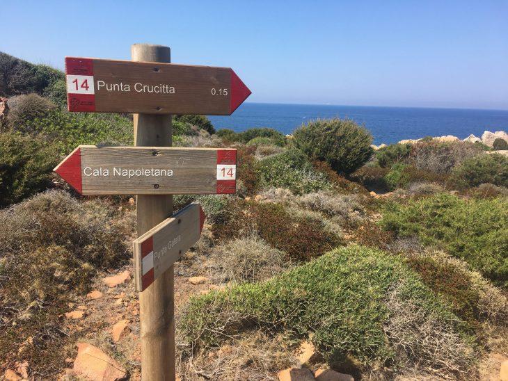 Desvio a Punta Crucitta desde Cala Napoletana