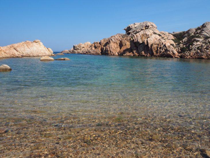 Playa de Punta Crucitta en Caprera