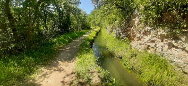 Canal de la ruta del agua de Berganzo