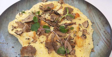 Tortilla de trufa melanosporum