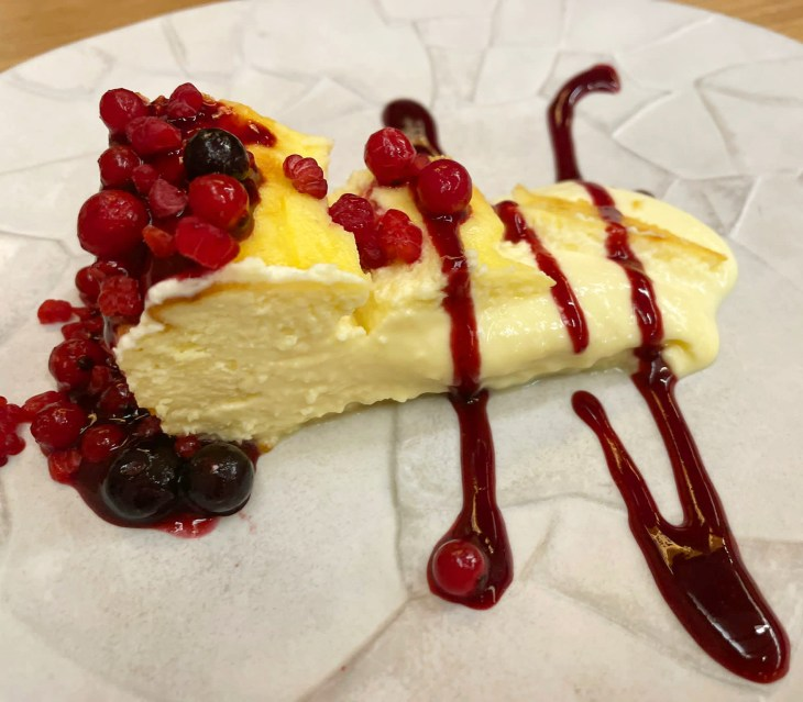 Tarta casera de quesos del Somontano