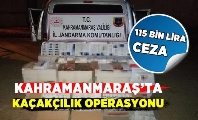 Pazarcık'da 8 bin 270 paket kaçak sigara ele geçirildi