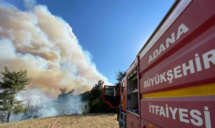 Adana Kozan'da yangın devam ediyor