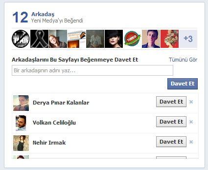 facebook arkadaşlarını davet et