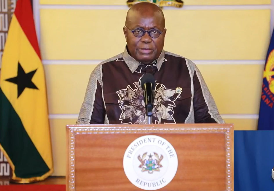 FULL TEXT: Akufo-Addo's 10th address on measures taken to combat spread of coronavirus