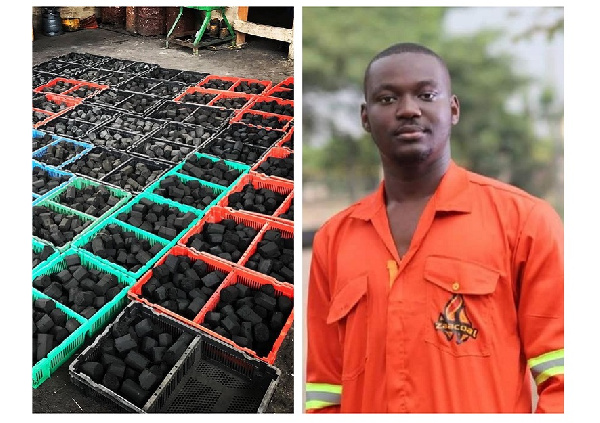 Meet the entrepreneur who quit law school to start the biggest charcoal factory in Ghana