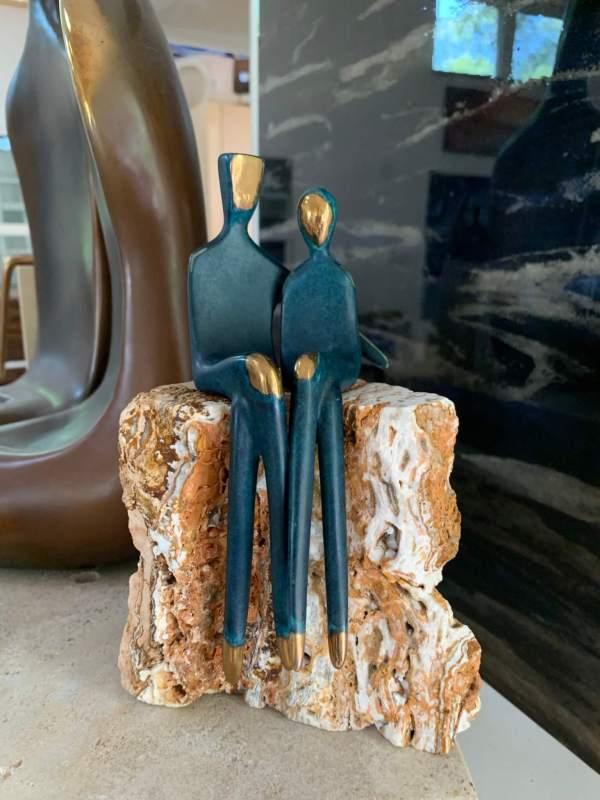 Sit Next to Me - couple sculpture