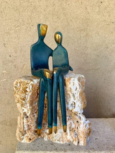 Sit Next to Me - couple sculpture