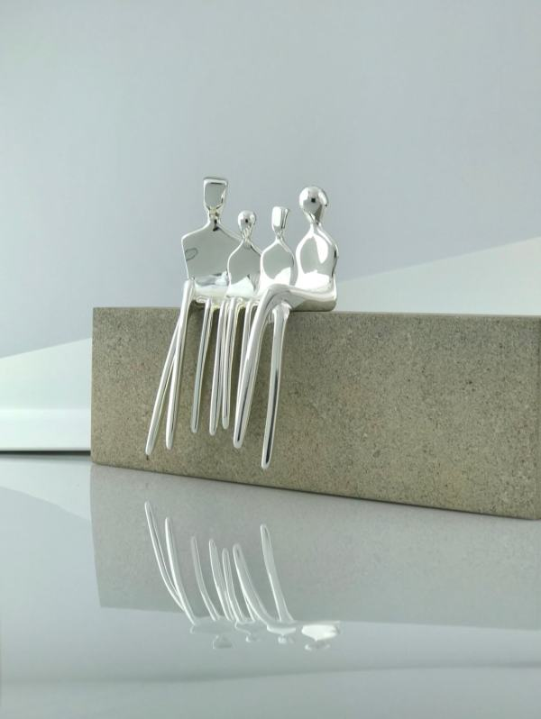 Family of 4 Caress silver side