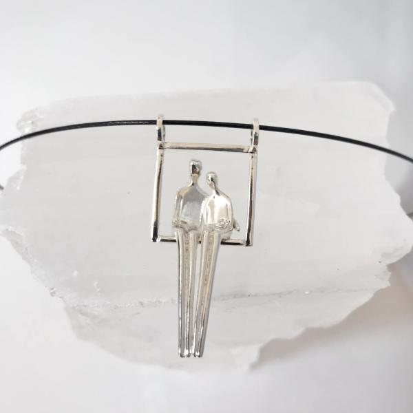 Close to me pendant in silver, Yenny Cocq Design