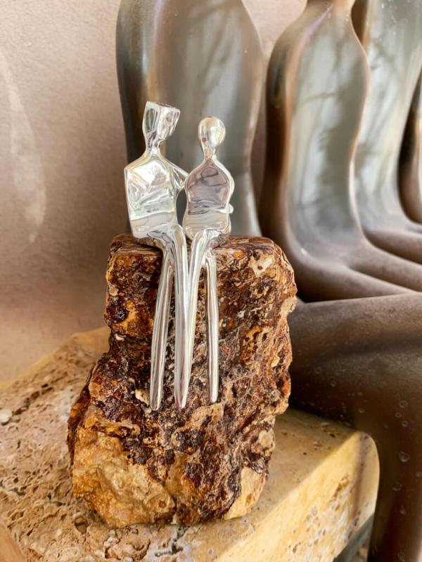 caress silver custom sculpture