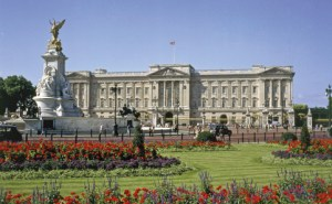 Buckingham Palace, home of The Queen.