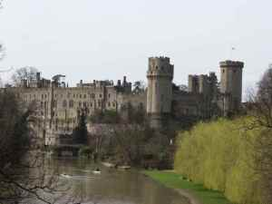 Warwick Castle with the River Avon in view.