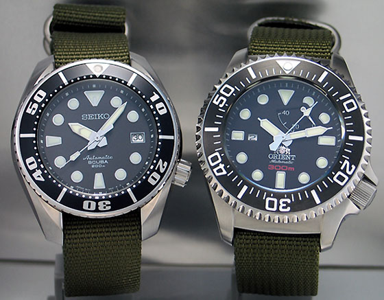 Orient 300m CFD0C001B and Seiko 200m SBDC001 (1/6)
