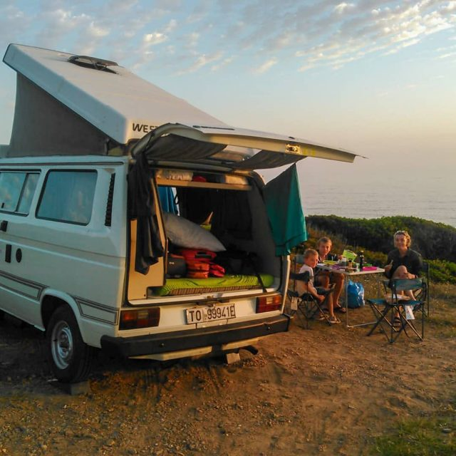 An epic sunset for an epic family on an epic island with an epic Campervan Say Yep and Breathe Freedom Somewhere Sardinia West Coast#breathefreedom #wildsardinia #realsardinia #sardinia #yepCampers #westfaliavanagon #westfaliavan #westfaliacamper #campervanhire #camperhire #sardiniatrip #sardiniavantrip #camperrentalsardinia #wildtrip #vantrip