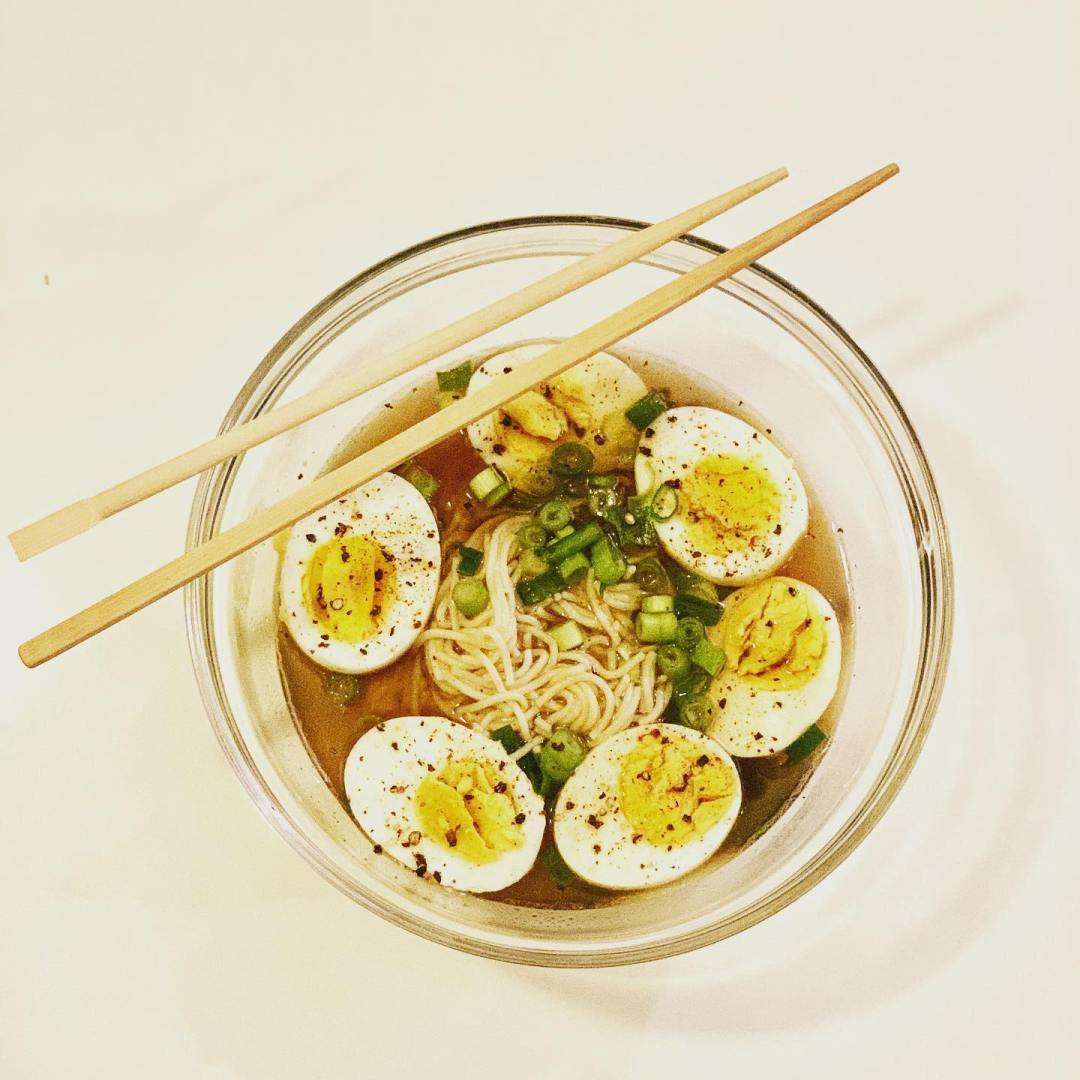 Your looking at dinner. Home made ramen with special recipe bone broth.