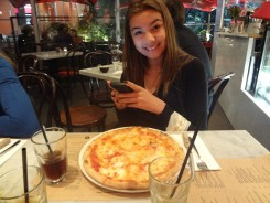 Ciara with Pizza