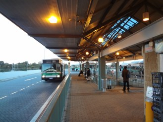 Bus interchange at the train station.
