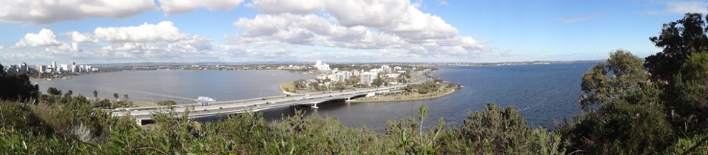 Panorama of South Perth and the Swan River