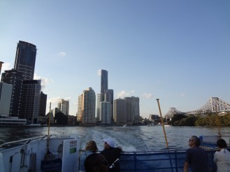 View from the river back towards the CBD