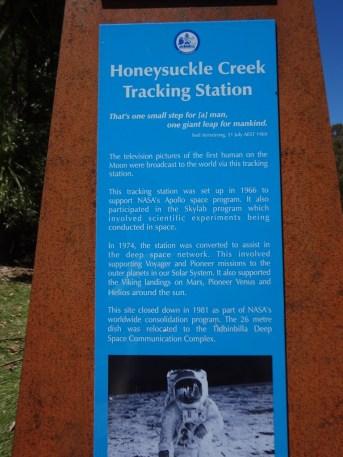 First stop was Honeysuckle Creek...