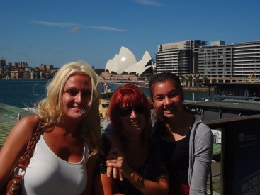The three girls on Circular Quay.