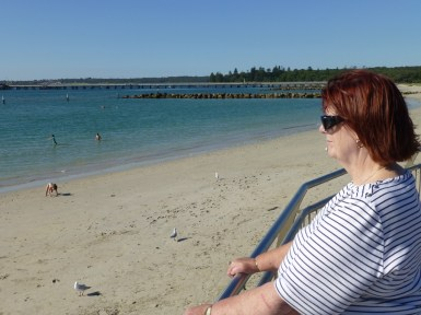 Barbara looking out from Kurnell Beach
