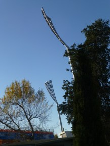 Futuristic lights at Manuka Oval