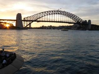 The Harbour Bridge in the evening sun.