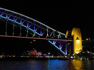 Harbour Bridge with the Opera House in the distance.