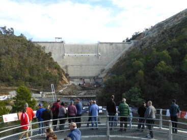 Viewing the dam from the viewing gallery.