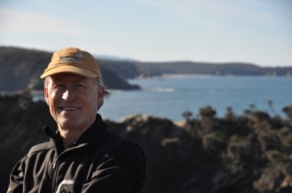 Glenn at the Lookout. 'Wot no Whales!'