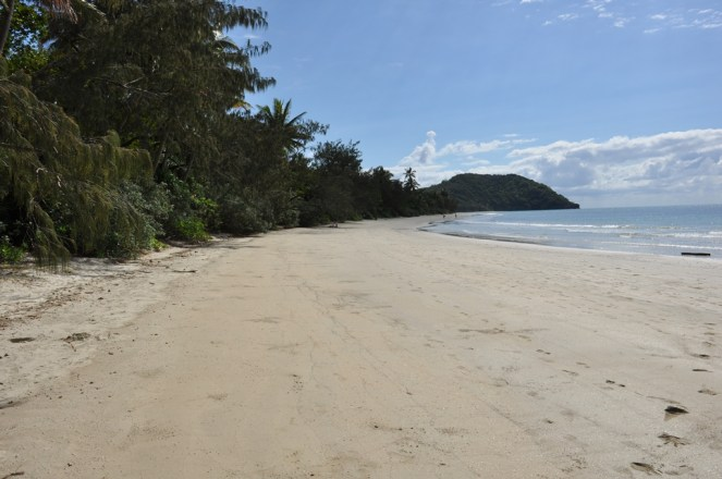 Looking up the beach at Myall