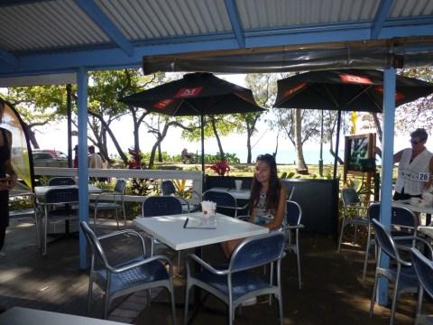 Ciara at the café where we had breakfast this morning.