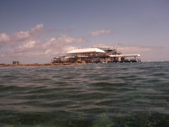 The pontoon out on the reef.