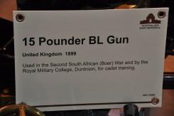 15 Pounder field gun details