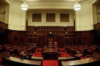 Inside the Senate Chamber in Old Parliament House.