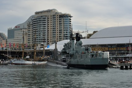 Tall ships and warships at Darling Harbour