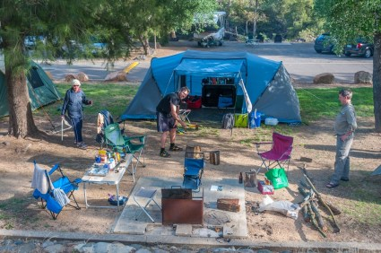 The Bower's campsite