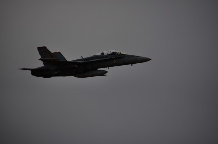The F18 Hornet on a low pass