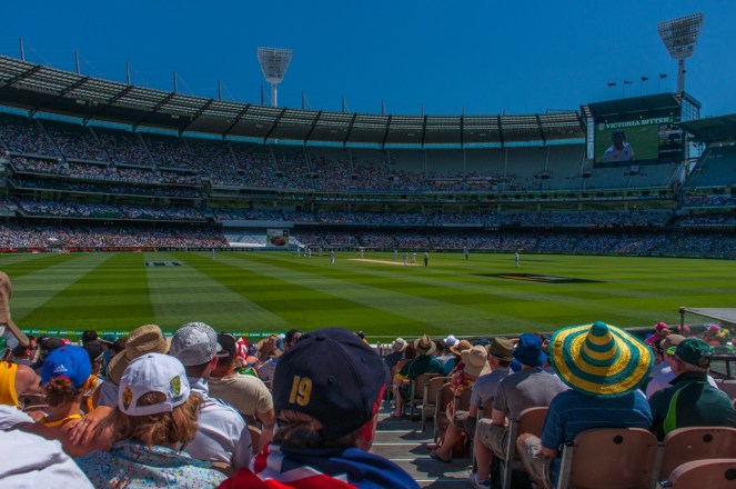 First view inside the MCG, impressive!