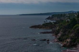 Looking down the coastline