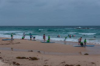 Kids learning to surf with Ex World Champion Surfer Pam Burridge