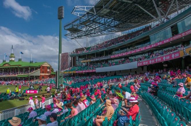 Sydney Cricket Ground (SCG) pretty in pink